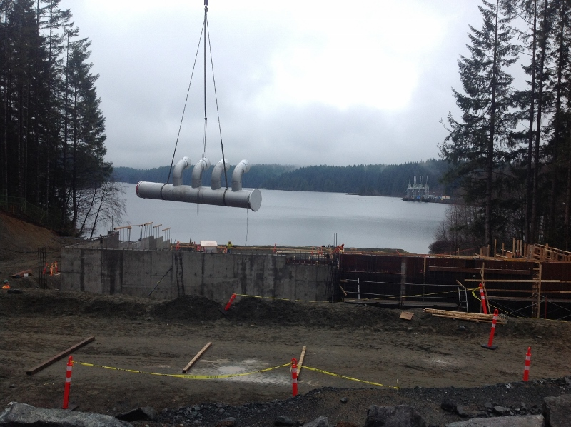 Campbell River Water Supply Project Progress Phase 2