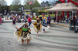 First Nations dance - Spirit Square Campbell River