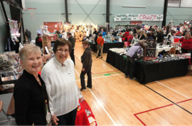 Greeters at the Toy and Craft Sale